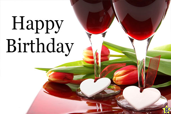 Happy Birthday Beer images wine-with-flower