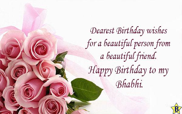 Happy Birthday Bhabhi Ji Messages