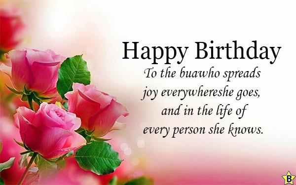 Happy Birthday Bua Messages