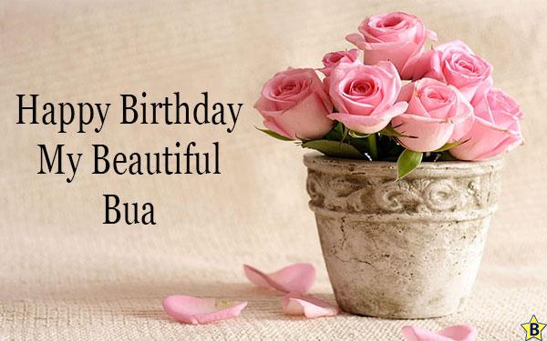 birthday wishes for Beautiful bua