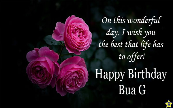 birthday wishes for Bua G