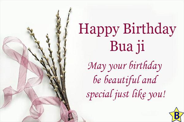 birthday wishes for Bua Ji