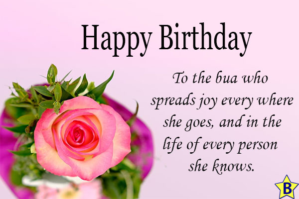 birthday wishes for Bua quotes