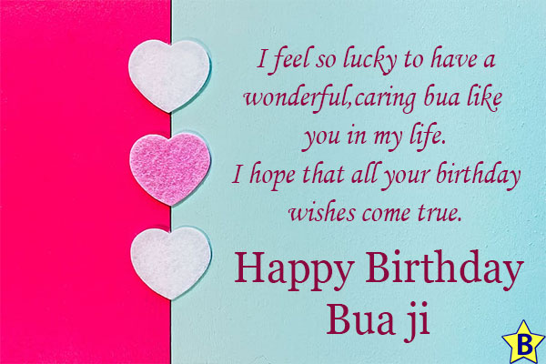 birthday wishes for Bua status