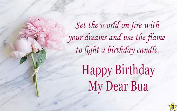 birthday wishes for my dear Bua