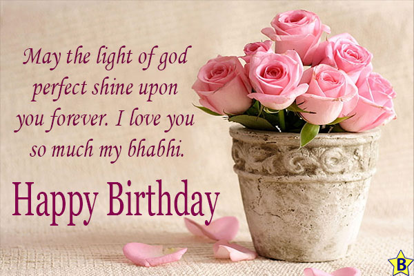 emotinal Birthday wishes for Bhabhi